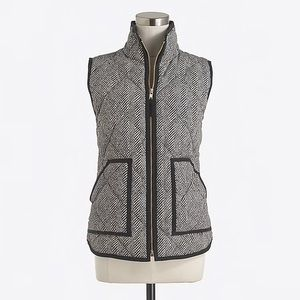 J. Crew printed quilted puffer vest